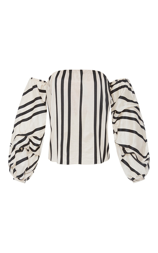 Medium johanna ortiz stripe cotton silk striped frida top