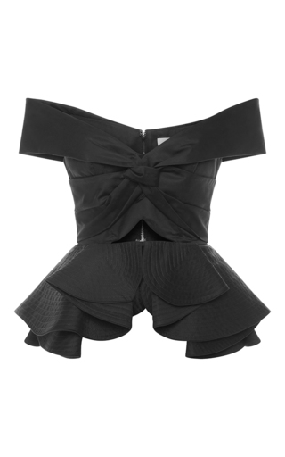Medium johanna ortiz black cotton off the shoulder agatha top