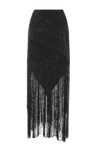 Medium johanna ortiz black black silk notre dame skirt