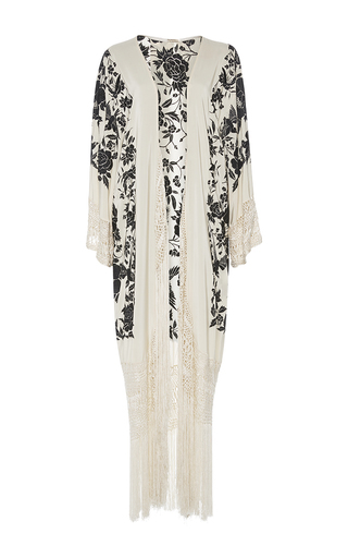 Medium johanna ortiz white cervantes shawl