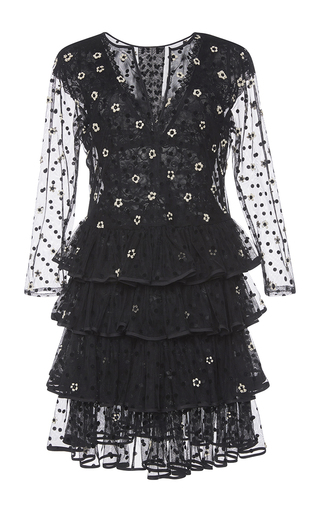 Medium johanna ortiz black carmen laforet dress