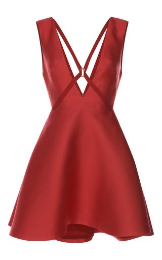 Medium zuhair murad red short scuba dress with harness