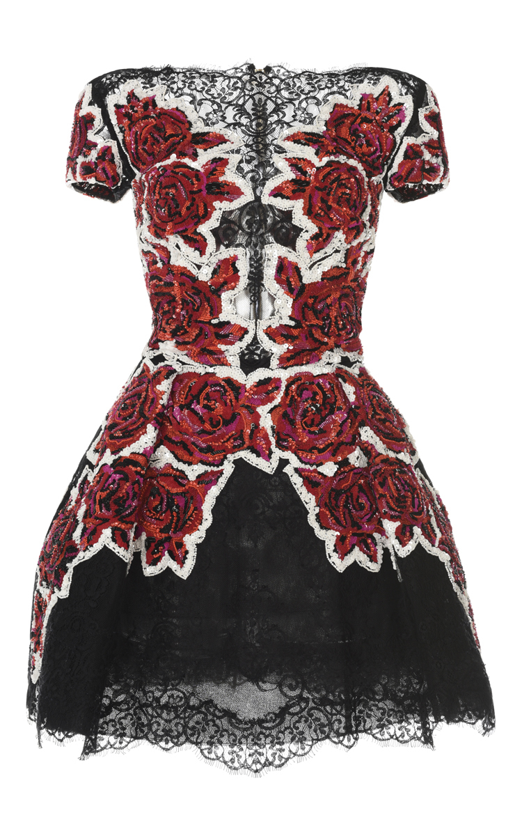 Floral Embroidered Lace Dress by Zuhair Murad | Moda Operandi