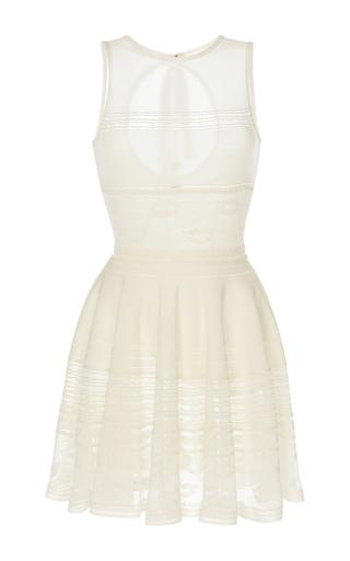 Medium zuhair murad white sleeveless keyhole short dress