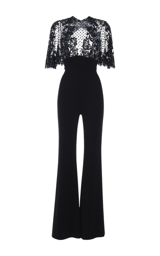Medium zuhair murad black lace bodice jumpsuit