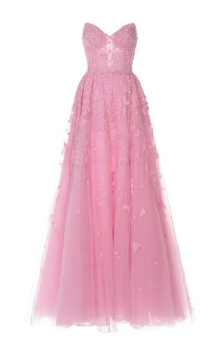 Medium zuhair murad light pink embroidered sweetheart gown