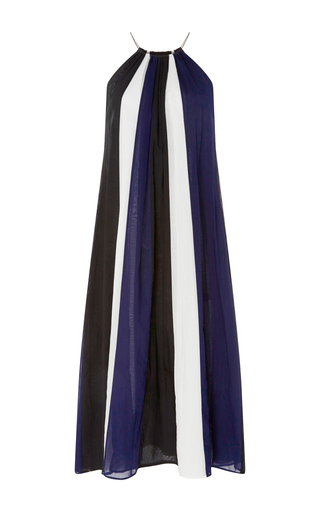 Medium martin grant multi cotton striped bain soleil dress