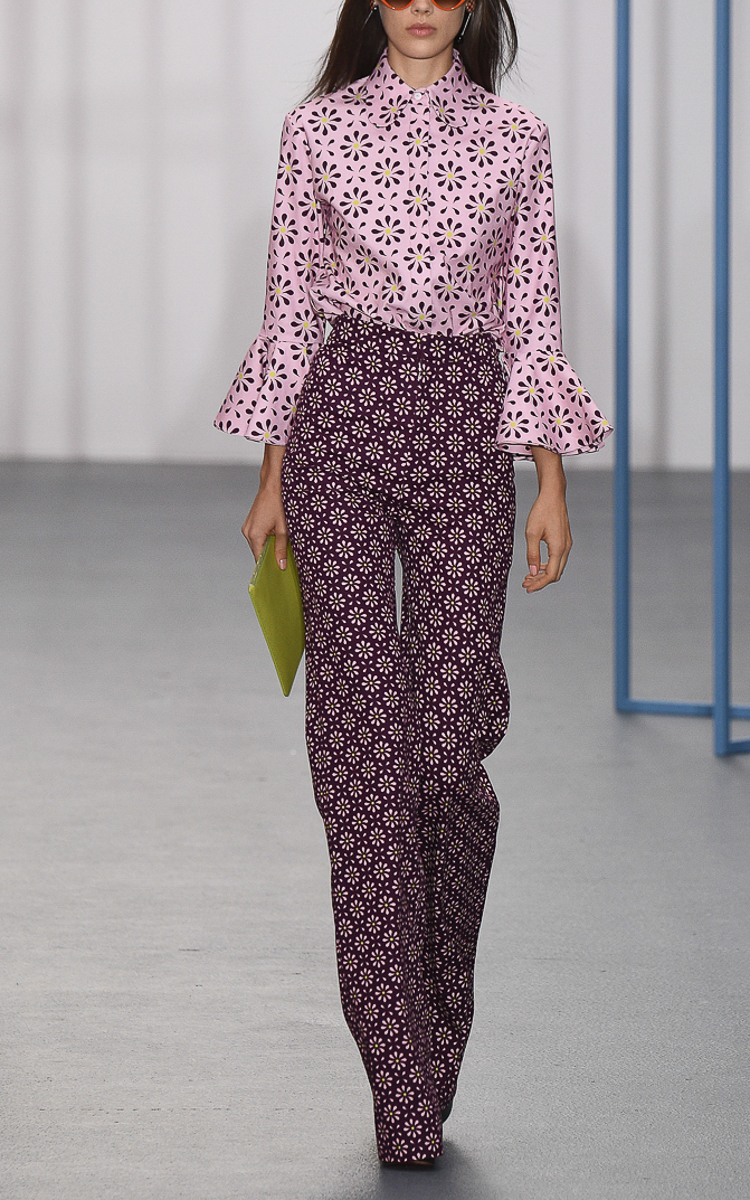 Fulton (MO) United States  city images : Printed Bard Flared Trousers by Holly Fulton | Moda Operandi