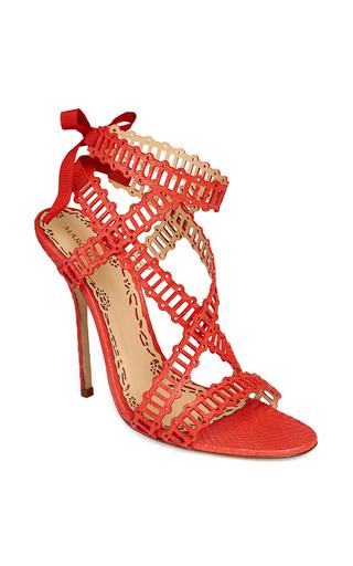Medium marchesa coral bright coral nappa sarah sandal