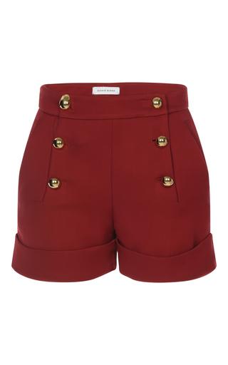Medium zuhair murad red fitted pique shorts