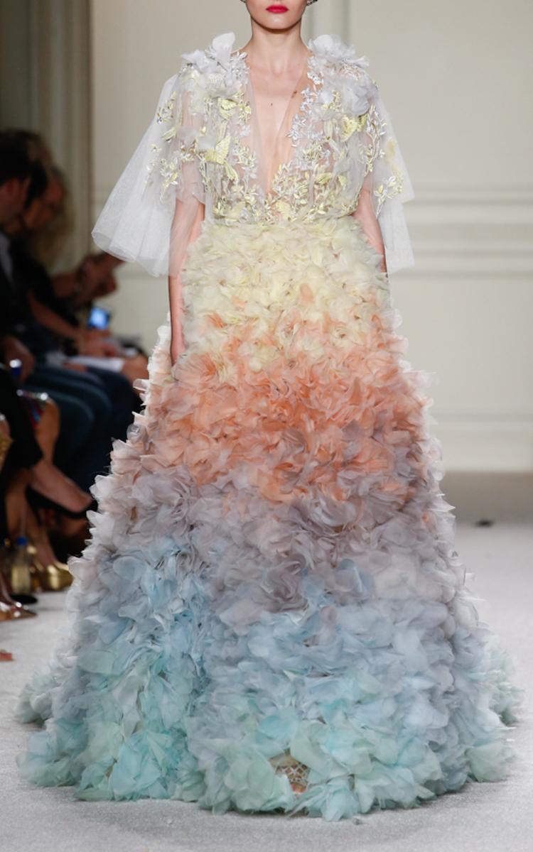 Pastel Ombre Ball Gown by Marchesa | Moda Operandi