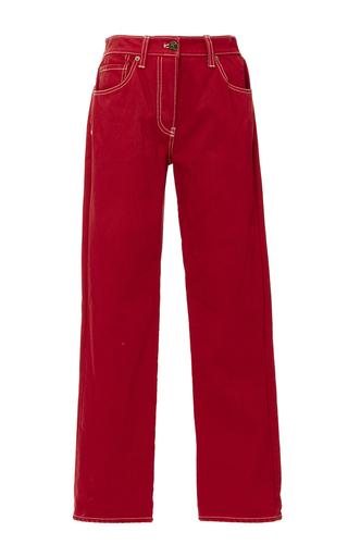 Medium trademark red embroidered pocket jean