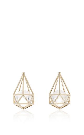 Medium noor fares metallic laha earrings