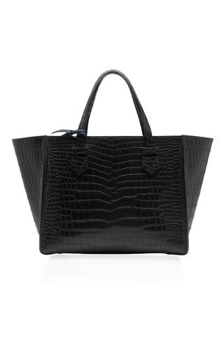Medium moreau black medium black crocodile skin bregancon top handle bag
