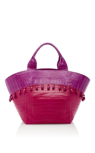Medium nancy gonzalez pink pink beach tote bag
