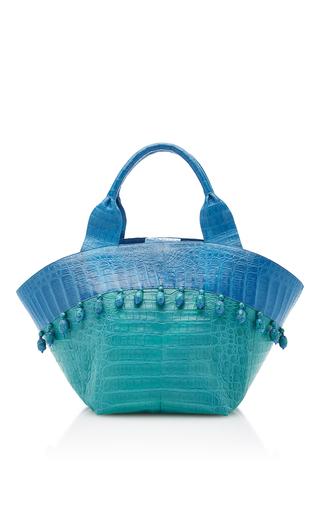 Medium nancy gonzalez blue teal beach tote bag
