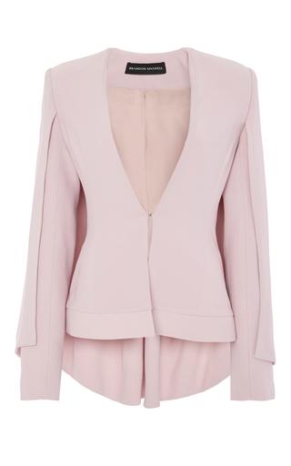 Medium brandon maxwell light pink cape suit jacket