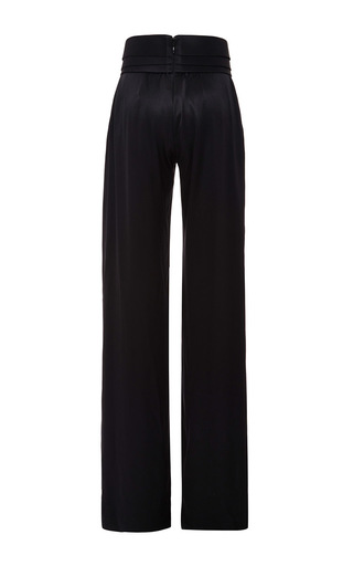 Black Tri Layer Wide Leg Trouser by BRANDON MAXWELL Now Available on Moda Operandi