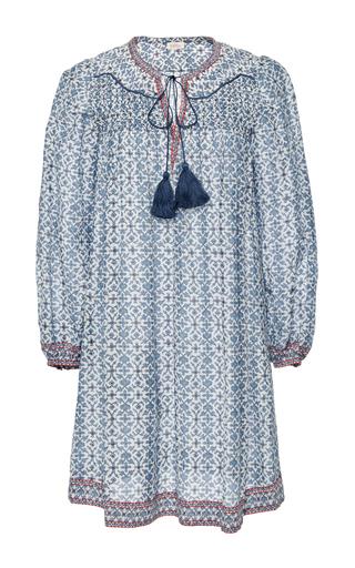 Medium talitha blue iznik print smocked dress