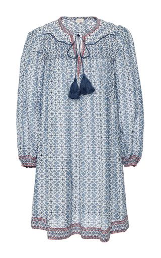 Medium talitha blue iznik print smocked dress