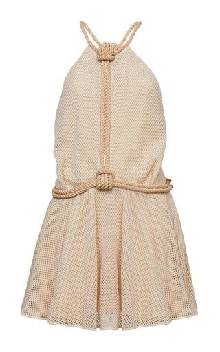 Medium jay ahr khaki open back cotton mini dress