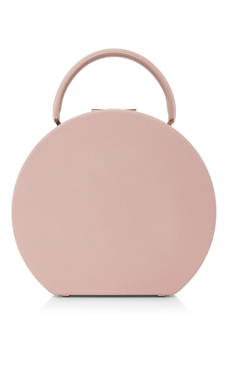 Medium bu wood pink calf leather ash rose bumi mini top handle bag