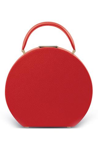 Medium bu wood red calf leather flame red bumi mini top handle bag