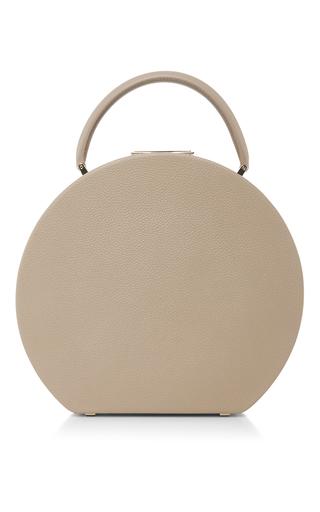 Medium bu wood nude calf leather taupe bumi mini top handle bag