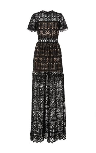 Medium alexis black phillipa long dress