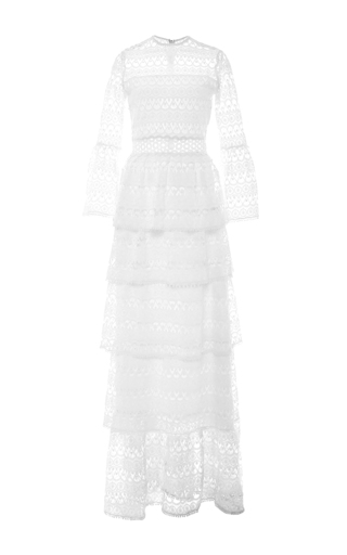Medium alexis white liliane long dress