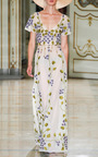 Cornely Violet Embroidered Tulle Dress by LUISA BECCARIA Now Available on Moda Operandi