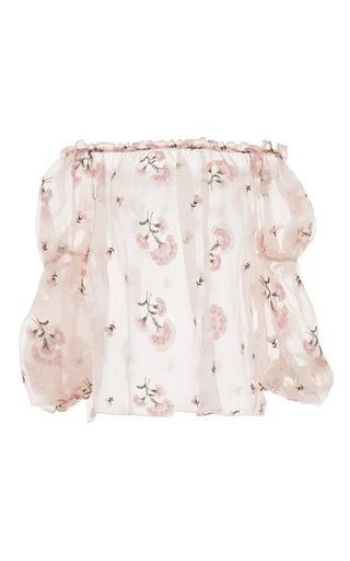 Medium luisa beccaria light pink off the shoulder pink blouse