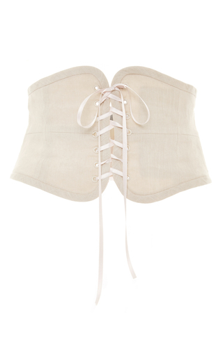 Medium luisa beccaria white white corset belt