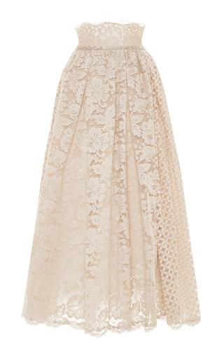 Medium luisa beccaria neutral midi lace skirt