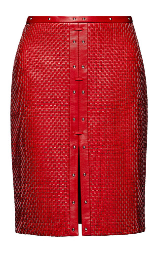 Medium magda butrym red rio skirt
