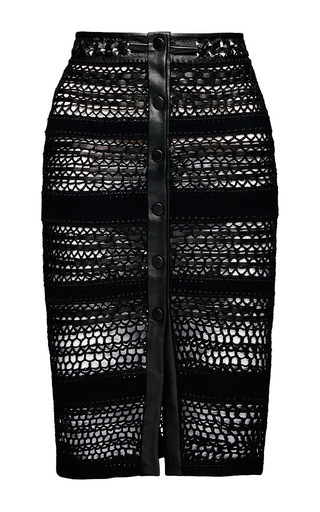 Medium magda butrym navy berkeley skirt