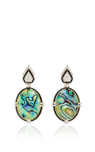 Medium david webb multi couture iridescence earrings