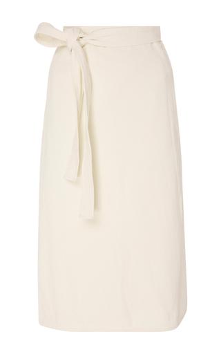 Medium citizens of humanity white donna wrap skirt