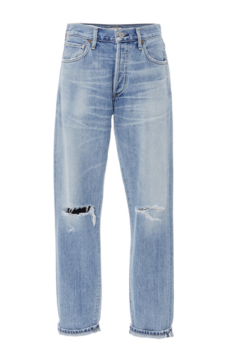 Medium citizens of humanity light wash liya high rise distressed classic fit jeans