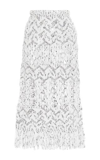 Amira Sheer Panel Macramé Skirt by TABULA RASA Now Available on Moda Operandi