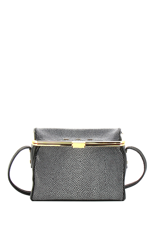 Audrey Stingray Highlighted Black Cross Body Bag by VBH Now Available on Moda Operandi