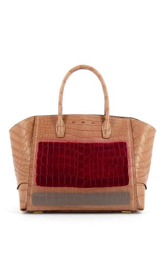 Medium vbh light pink brera 34 sport crocodile pastel pink top handle bag