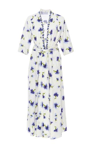 Medium luisa beccaria floral long sleeve wrap dress