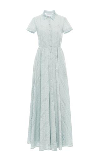 Medium luisa beccaria light blue short sleeve maxi dress