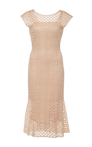 Medium luisa beccaria nude sleeveless shift dress