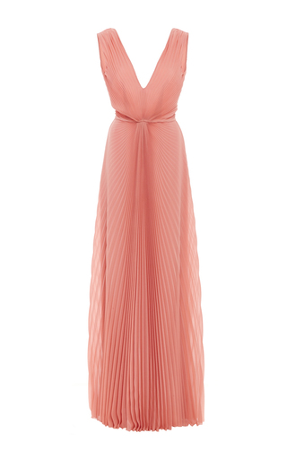 Medium luisa beccaria pink pleated midi dress