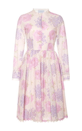 Medium luisa beccaria multi long sleeve mini dress