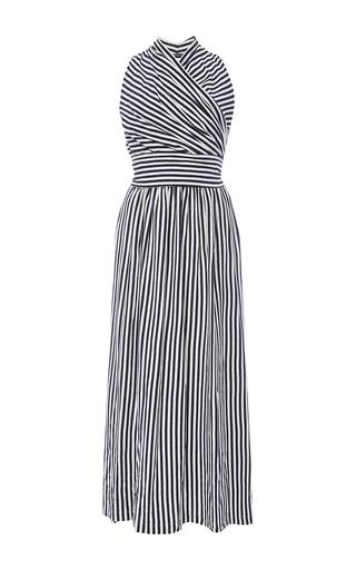 Donna Halter Wrap Dress by MDS STRIPES Now Available on Moda Operandi