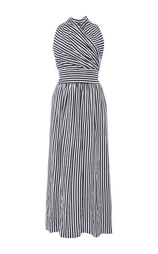 Medium mds stripes stripe donna halter wrap dress