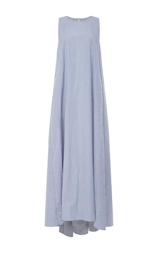 Medium mds stripes blue fully back dress